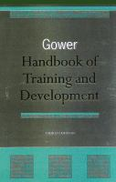 Cover image for Gower handbook of training and development
