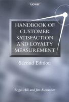 Cover image for Handbook of customer satisfaction and loyalty measurement