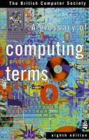 Cover image for A glossary of computing terms