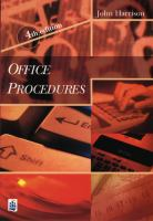 Cover image for Office procedures