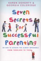 Cover image for Seven secrets of successful parenting