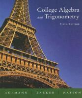 Cover image for College algebra and trigonometry