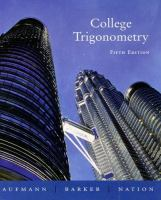 Cover image for College trigonometry