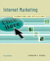 Cover image for Internet marketing : foundations and applications