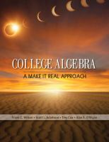 Cover image for College Algebra :  a make it real