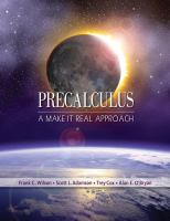 Cover image for Precalculus: a make it real approach