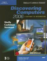 Cover image for Discovering computers 2006 : a gateway to information : Web enhanced : brief