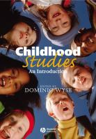 Cover image for Childhood studies : an introduction