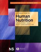 Cover image for Introduction to human nutrition