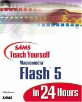 Cover image for Sams teach yourself Macromedia Flash 5 in 24 hours