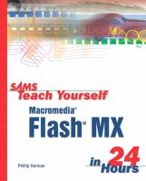 Cover image for Sams teach yourself macromedia flash MX in 24 Hours