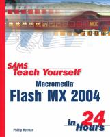 Cover image for Sams teach yourself Macromedia Flash MX 2004 in 24 hours