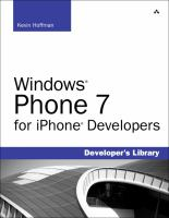 Cover image for Windows Phone 7 for iPhone developers