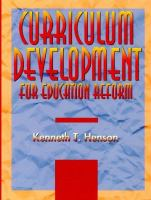 Cover image for Curriculum development for education reform
