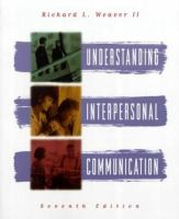 Cover image for Understanding interpersonal communication