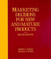 Cover image for Marketing decisions for new and mature products