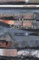 Cover image for Geochemistry of marine sediments