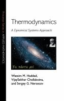 Cover image for Thermodynamics : a dynamical systems approach