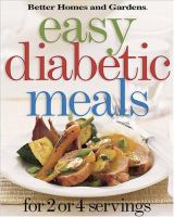 Cover image for Easy diabetic meals : for 2 or 4 servings