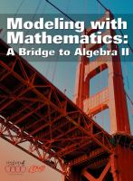 Cover image for Modeling with mathematics : a bridge to algebra II