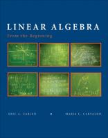 Cover image for Linear algebra: from the beginning : for scientist and engineers