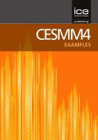 Cover image for CESMM4 : Civil Engineering Standard Method of Measurement : examples