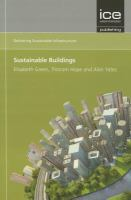 Cover image for Sustainable infrastructure :  sustainable buildings