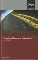 Cover image for Principles of pavement engineering