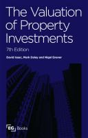 Cover image for The valuation of property investments