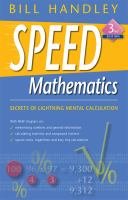 Cover image for Speed mathematics