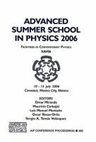 Cover image for Advanced Summer School in Physics 2006 : frontiers in contemporary physics : EAV06 : Cinvestav, Mexico City, Mexico, 10-14 July, 2006