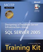 Cover image for MCITP self-paced training kit (Exam 70-443) : designing a database server infrastructure using Microsoft SQL server 2005