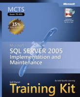 Cover image for MCTS self-paced training kit (exam 70-431) : Microsoft SQL server 2005--implementation and maintenance