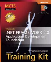 Cover image for MCTS self-paced training kit (exam 70-536) : Microsoft .NET Framework 2.0--application development foundation