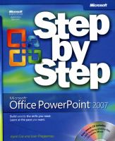 Cover image for Microsoft Office PowerPoint 2007 step by step
