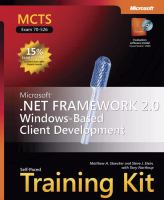 Cover image for MCTS self-paced training kit (exam 70-526) : Microsoft .NET Framework 2.0--Windows-based client development