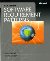 Cover image for Software requirement patterns