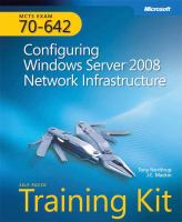 Cover image for MCTS self-paced training kit (exam 70-642) :  configuring Windows server 2008 network infrastructure