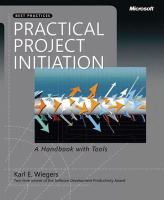 Cover image for Practical project initiation : a handbook with tools