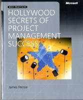 Cover image for Hollywood secrets of project management success