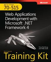 Cover image for MCTS self-paced training kit (exam 70-515) : web applications development with Microsoft .Net framework 4
