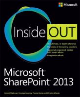 Cover image for Microsoft sharepoint 2013 inside out