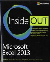 Cover image for Microsoft excel 2013 inside out