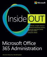Cover image for Microsoft Office 365 administration inside out