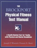 Cover image for The brockport physical fitness test manual