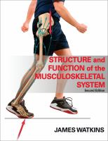 Cover image for Structure and function of the musculoskeletal system