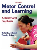 Cover image for Motor control and learning : a behavioral emphasis