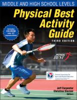 Cover image for Physical best activity guide middle and high school levels