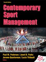 Cover image for Contemporary sport management