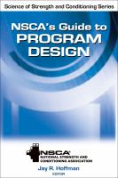 Cover image for NSCA's guide to program design
